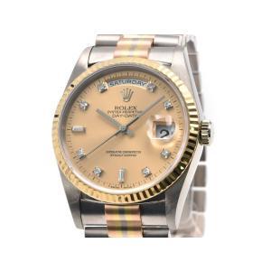 [3年保証] ロレックス メンズ デイデイト トリドール 18239BIC W番 K18YG K18PG K18WG シャンパンゴールド 自動巻き 腕時計 中古 送料無料 collectionshiba