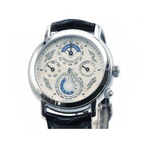 オーデマピゲ メンズ メトロポリス 25962BC 新品仕上済 K18WG 革ベルト パーペチュアルカレンダー 自動巻 腕時計 中古 送料無料 collectionshiba