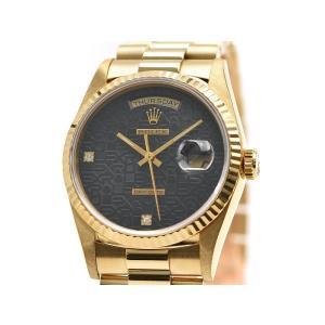 [3年保証] ロレックス メンズ デイデイト 18238 2BR S番 K18YG OH/新品仕上済 2Pダイヤ コンピュータ文字盤 自動巻き 腕時計 中古 送料無料|collectionshiba