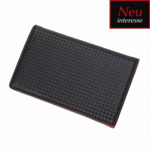 Morpho モルフォ Neu interesse ノイ・インテレッセ Schatten シャッテン カードケース ブラック/レッド 3874|collectors