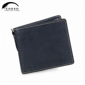 CORBO コルボ curious キュリオス 二つ折財布 8LO-9931 ネイビー|collectors