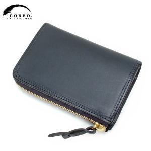 CORBO コルボ SLATE ハーフサイズ 2つ折財布 ウォレット ネイビー 8LC-9954|collectors