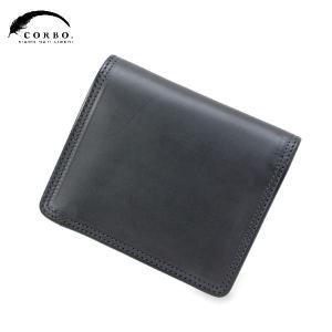 CORBO コルボ SLATE パスケース付 2つ折財布 ネイビー 8LC-9362|collectors