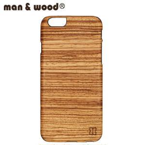man&wood マン&ウッド iPhone6用 ハードケース  MW-M1413 Zebrano 天然木使用 ブラックフレーム|collectors