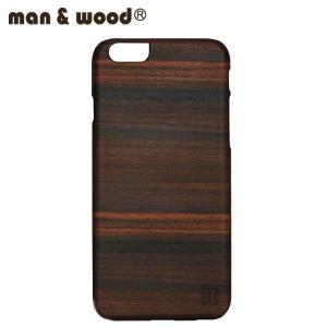 man&wood マン&ウッド iPhone6用 ハードケース  MW-M1417 Ebony 天然木使用 ブラックフレーム|collectors