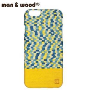 man&wood マン&ウッド iPhone6用 ハードケース  MW-M1482 Yellow Submarine  天然木使用 ホワイトフレーム|collectors