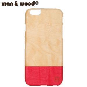 man&wood マン&ウッド iPhone6用 ハードケース  MW-M1484 MissMatch 天然木使用 ホワイトフレーム|collectors