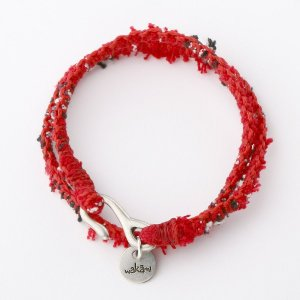 ワカミ ブレスレット Wakami  Double wrap Textile Bracelet - Red WA9959-01|collectors