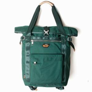 AS2OV アッソブ CORDURA SPAN 600D 2WAY BAG / バックパック Green 061701|collectors