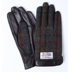 iTouch Gloves アイタッチグローブ HARRIS TWEED チェック タッチパネル対応 レザー 手袋 BRxBRC|collectors