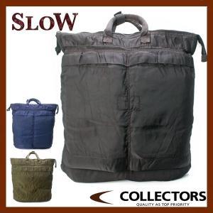 SLOW スロウ VINTAGE DYE MILITARY ヘルメットトートM 49S55E|collectors