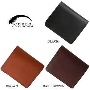 CORBO コルボ SLATE パスケース付 2つ折財布 8LC-9362|collectors