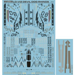 """FBD48063 """"Lo-Viz Devil Dog Rhinos"""