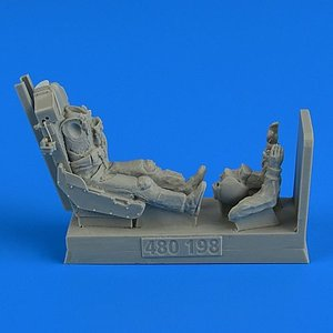 QAB480198 USAF Fighter Pilot with ejection seat for Northrop F-5E college-eye