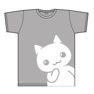 ほしの島のにゃんこ にゃんこTシャツ グレー サイズ:M|colopl-store