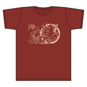 白猫温泉物語 Tシャツ ワインレッド サイズ:L|colopl-store