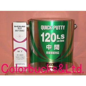 【硬化剤付セット】ロッククイックパテ120LS 主剤3.5kg+硬化剤80g [057-0645-02][057-0063](クイックポリパテ 鈑金パテ板金パテ) ロックペイント colorbucks
