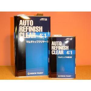 ロックペイント マルチトップクリヤーMR主剤(硬化剤は別売り) 4kg 4:1型 高級自動車用クリアー|colorbucks