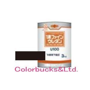 1液ファインウレタンU100 3kg ブラック 日本ペイント
