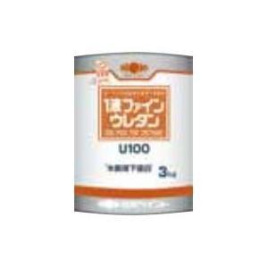 1液ファインウレタンU100 3kg 5分ツヤ有り白 日本ペイント
