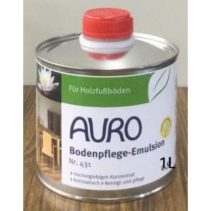 アウロ 自然塗料 フロアー用ワックス NP-0431 1L 薄めた液をつけた雑巾で拭くだけ|colorbucks