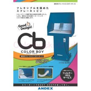 アンデックス カラーボーイ ワイド型 CB-2W 簡易排気塗装ブース 100V電源 強力350Wシロッコファン|colorbucks