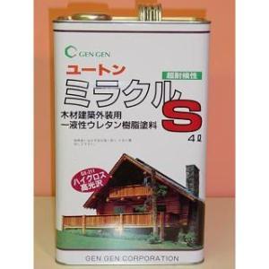 ユートン油性ミラクルS 4L 玄々化学 ツヤ3種 超耐侯性 木材建築外装用クリアー クリヤー colorbucks