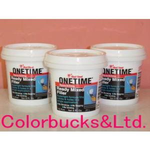 レッドデビル ワンタイム 0.5L 内部用補修用水性パテ|colorbucks