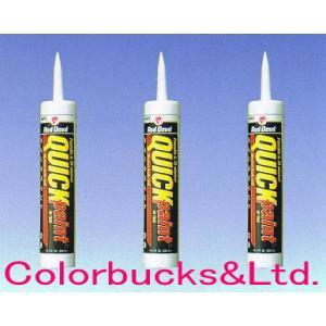 レッドデビル クイックペイント 12本セット シリコン/アクリル水性コーキング材|colorbucks