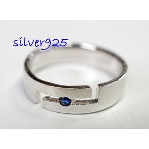 シルバーリング サファイア入り サイズ「13」 銀 シルバー925 指輪|colorful-story