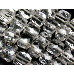 天然水晶 クリスタルクォーツ キューブカット 7〜9mm[ショート連](9-1 CQ-CB...