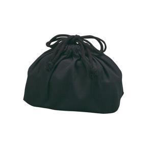 お弁当袋 ランチ巾着 巾着袋細長メンズ用 ブラック 無地 日本製 ( ランチバッグ お弁当入れ 給食袋 )|colorfulbox