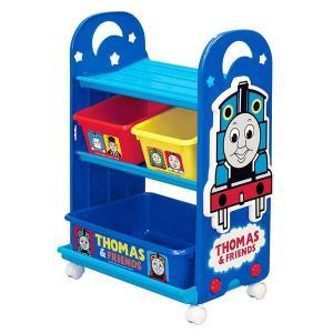 おもちゃ 収納ラック 3段 きかんしゃトーマス トイステーション ( 収納 棚 収納ボックス おもち...