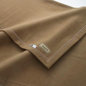 最高級キャメル毛布 シングル 140×200cm ベージュ ( ブランケット 掛け毛布 )