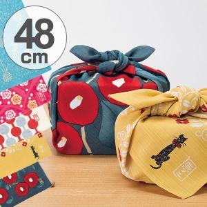 風呂敷 中巾 チーフ 竹久夢二 48cm ふろしき ナフキン ランチクロス ( お弁当包み 猫 ねこ ネコ 綿 小風呂敷 )|colorfulbox