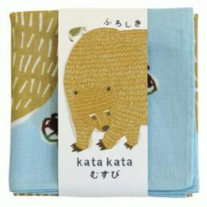 風呂敷 中巾 チーフ katakata むすび くまととり 50cm ふろしき ナフキン ランチクロス 綿100% ( 綿 包み お弁当包み キッチンクロス )|colorfulbox|05