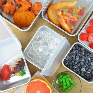 保存容器 アルミ保存容器 深型 小 1L 蓋付き ( アルミ製 冷凍OK 冷蔵庫 食品保存 ) colorfulbox 03