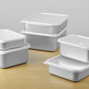 保存容器 アルミ保存容器 深型 小 1L 蓋付き ( アルミ製 冷凍OK 冷蔵庫 食品保存 ) colorfulbox 06