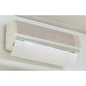 エアコン 風よけ カバー ホワイト ( 風除け 風向き 調整 室内 エコ ECO 節電 冷房 暖房 )|colorfulbox|04