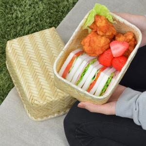 お弁当箱 バンブーボックス 竹製 竹かご Naturalist ( サンドイッチケース 和風弁当箱 ランチボックス )|colorfulbox