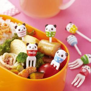 ピック るんるんカップパンダ ピックスセット 8本入り ( お弁当グッズ キャラ弁 子供用 )|colorfulbox