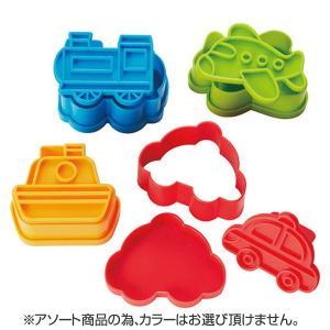 抜き型 ライス&パン押し抜き型 のりもの 4個入り ( お弁当グッズ キャラ弁 子供用 )|colorfulbox|02