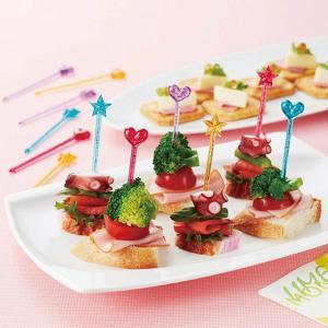 ピック キラキラロングピック ハート&スター 12本入り ( お弁当グッズ ホームパーティ アレンジ )|colorfulbox