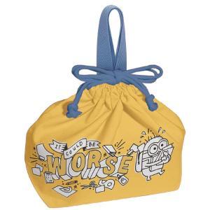 お弁当袋 ランチ巾着 怪盗グルー ミニオンズ 子供用 キャラクター ( 給食袋 ランチボックス巾着 子供用お弁当袋 )