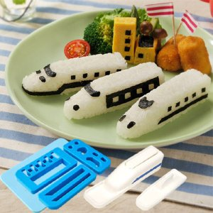 おにぎり抜き型 電車おにぎりセット キャラ弁 スティックおにりぎ ( おにぎり抜き型 ご飯押し型 お弁当グッズ )|colorfulbox