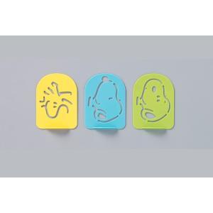 ふりかけプレート スヌーピー 3枚入り ふりかけ プレート キャラ弁 日本製 ( お弁当グッズ ラテアート シート キャラクター )|新着K|05|colorfulbox|04