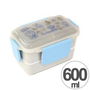 お弁当箱 2段 ランチボックス ドラえもん Doraemon 600ml キャラクター 仕切り付き ( 弁当箱 ランチボックス ドーム型 ) colorfulbox