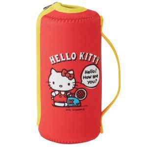 ペットボトルホルダー ハローキティ 500ml用 ウエット素材 保冷ペットボトルカバー ( ペットボトル用 ペットボトルケース 保冷 持ち手付き )|colorfulbox