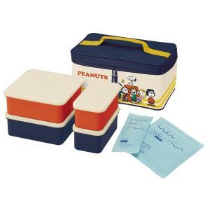 ピクニックランチボックス お弁当箱 スヌーピー ランチタイム 保冷バッグ付 行楽ランチセット ( お重 キャラクター 重箱 保冷剤付 ) colorfulbox