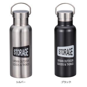 水筒 ステンレスボトル 500ml STORAGE 直飲み水筒 ( ステンレス製 直飲み デザインボトル )|colorfulbox|02